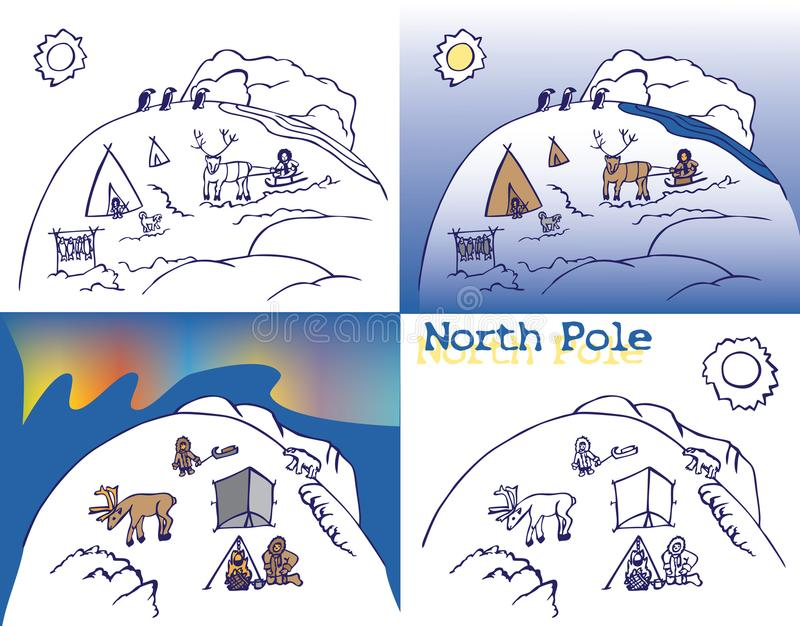 Biegun północny Chukchi royalty ilustracja