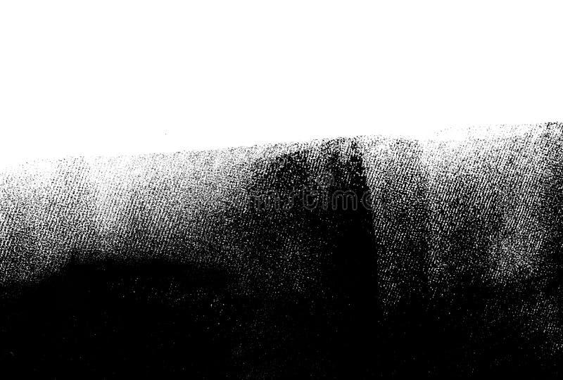 Biel ściana stronniczo malował w czerni z farba rolownikiem obraz stock
