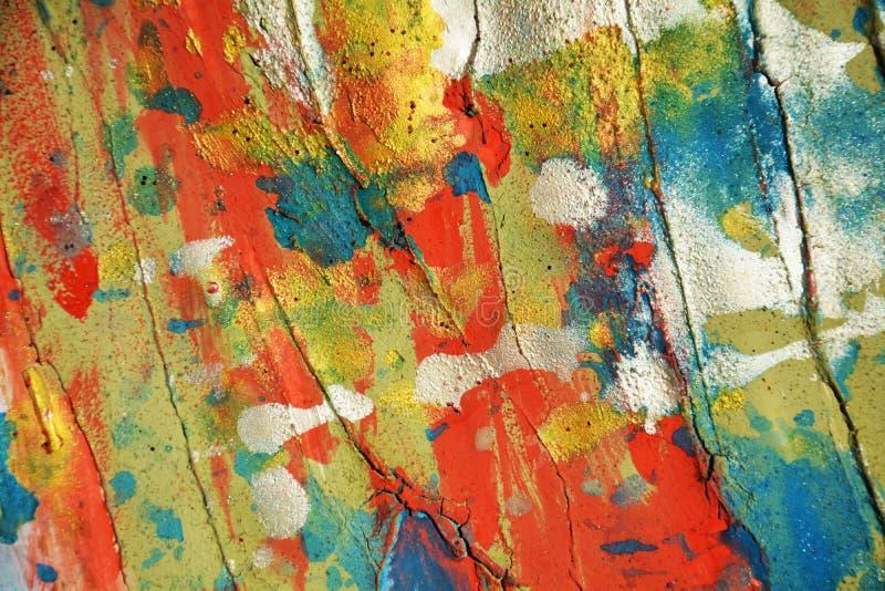 Biel błękitnej czerwieni punktów muśnięcia i tła srebni pomarańczowi pastelowi woskowaci uderzenia, odcienie, punkty fotografia royalty free