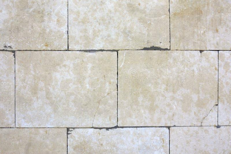 Biel cegły kamienia płytki grunge łupkowej ściany tekstury nieociosany tło zdjęcia royalty free