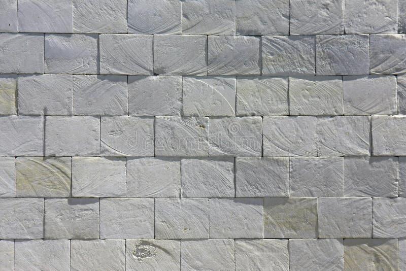 Biel cegły kamienia płytki grunge łupkowej ściany tekstury nieociosany tło zdjęcie stock