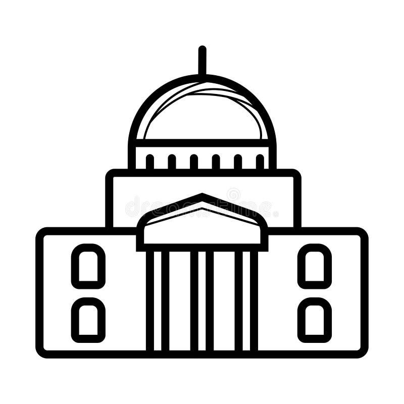 Biel Domowa prosta ikona royalty ilustracja