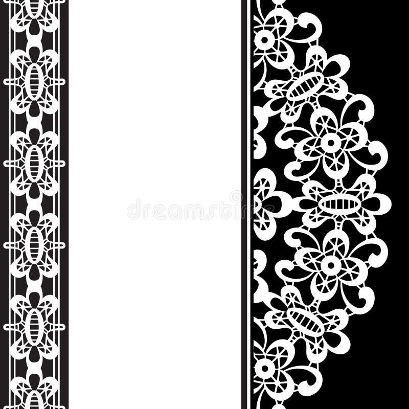 Biel koronka na czerni ilustracji