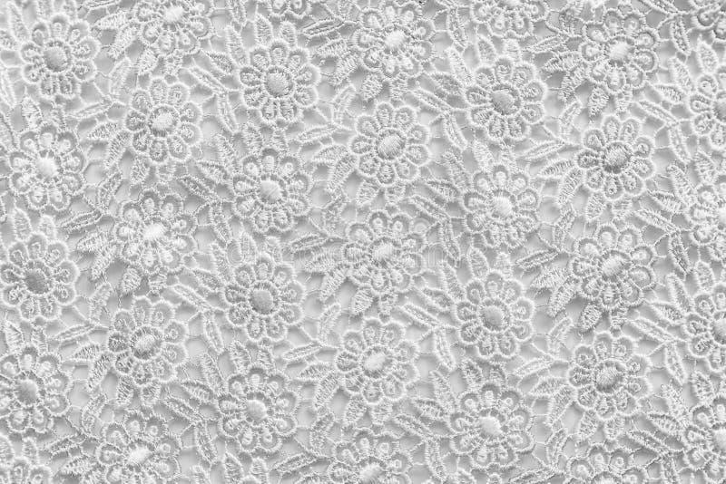 Biel koronka z małymi kwiatami Żadny jakaś znak firmowy lub ogranicza sprawę w ten fotografii zdjęcia royalty free