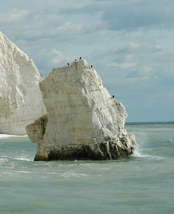 Biel kredy skała zdjęcia stock