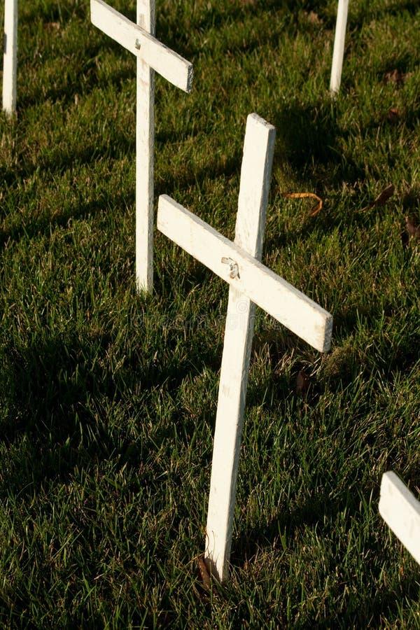 Biel Krzyżuje Protestującą aborcję zdjęcie royalty free