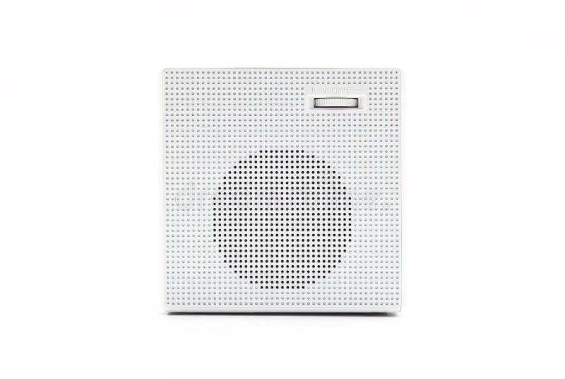 Biel, kwadrata cyfrowy zegar na białym tle z ścinek ścieżką zdjęcia royalty free