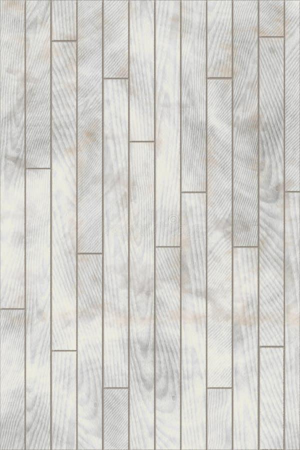 Biel malująca drewniana płytki podłoga ilustracji