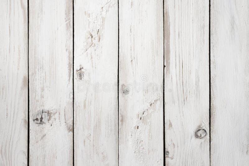 Biel malująca drewniana tekstura zdjęcia royalty free