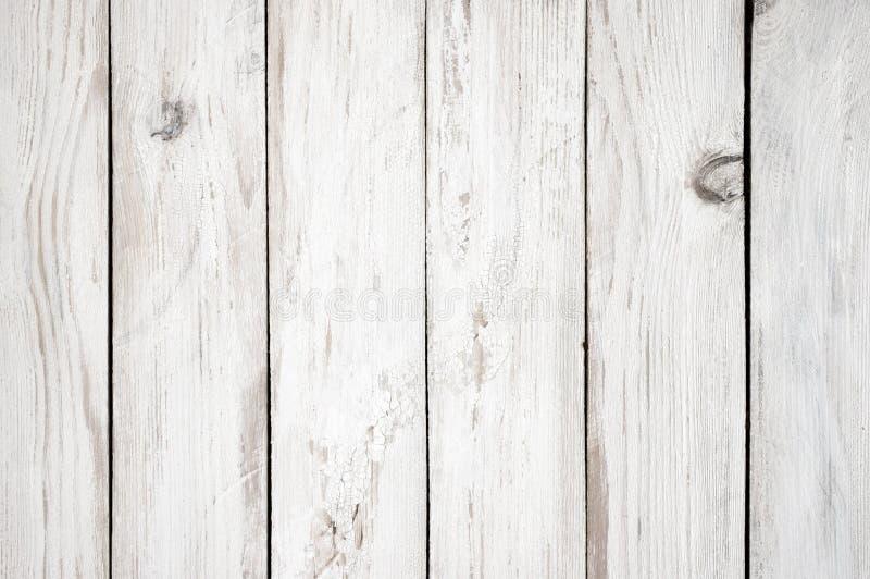 Biel malująca drewniana tekstura obrazy stock