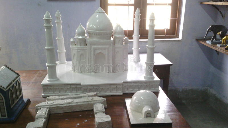 Biel marmurowy Taj Mahal zdjęcia stock