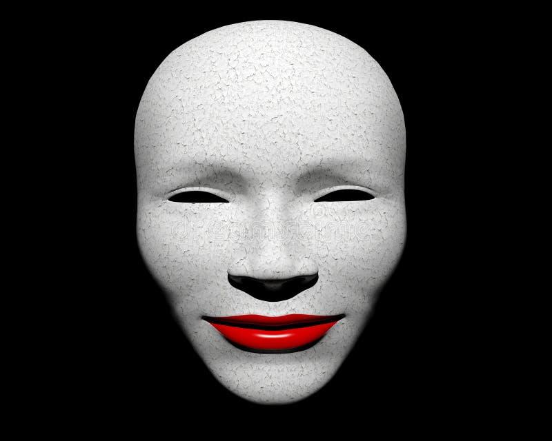 Biel maska royalty ilustracja