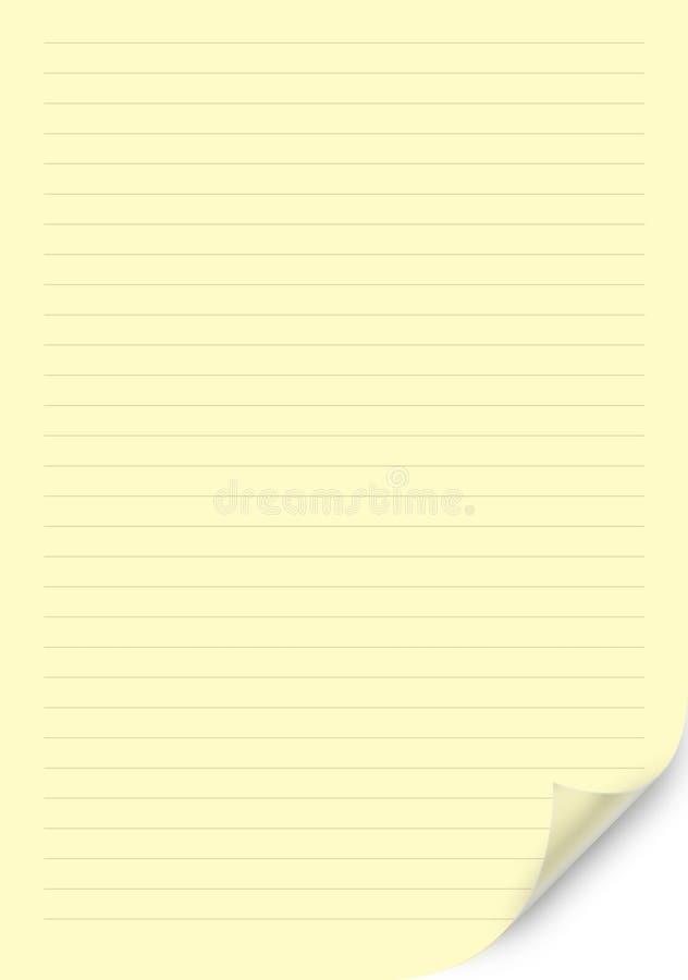 Biel obciosujący papieru prześcieradło royalty ilustracja