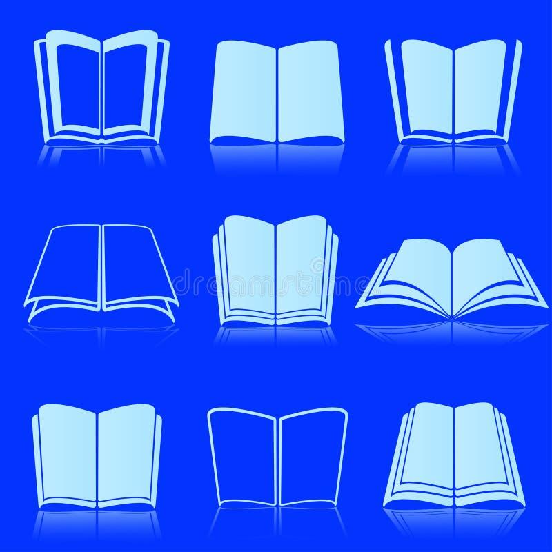 Biel otwarte książki zdjęcia stock