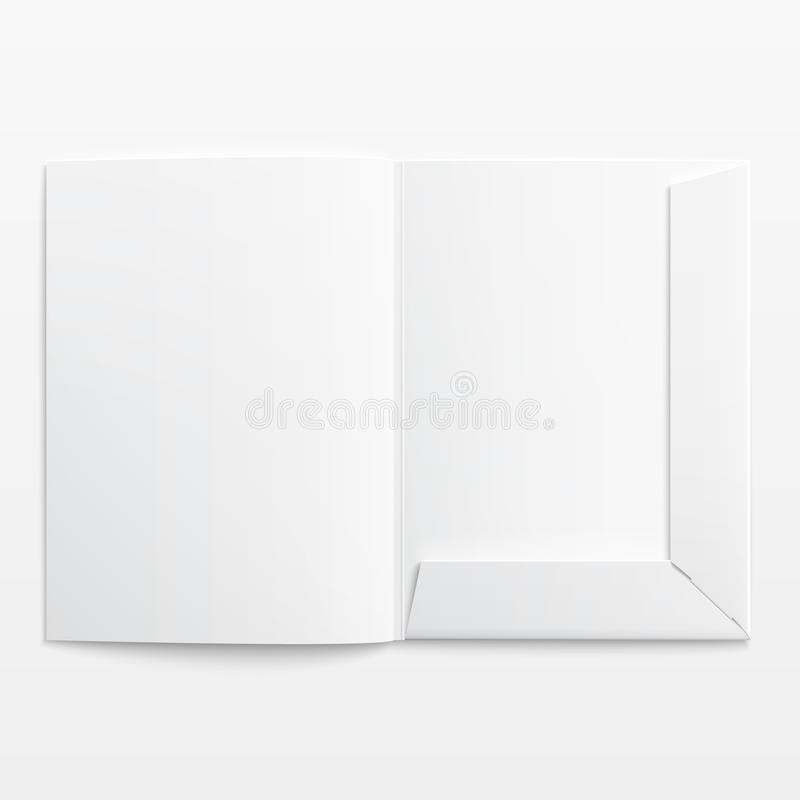 Biel pusta otwarta falcówka. royalty ilustracja