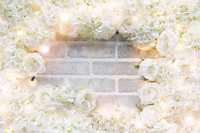 Biel róży rama zdjęcie royalty free