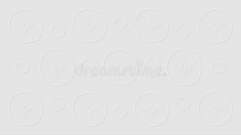 biel tła abstrakcyjne Unikalny wzór od geometrycznych kształtów royalty ilustracja
