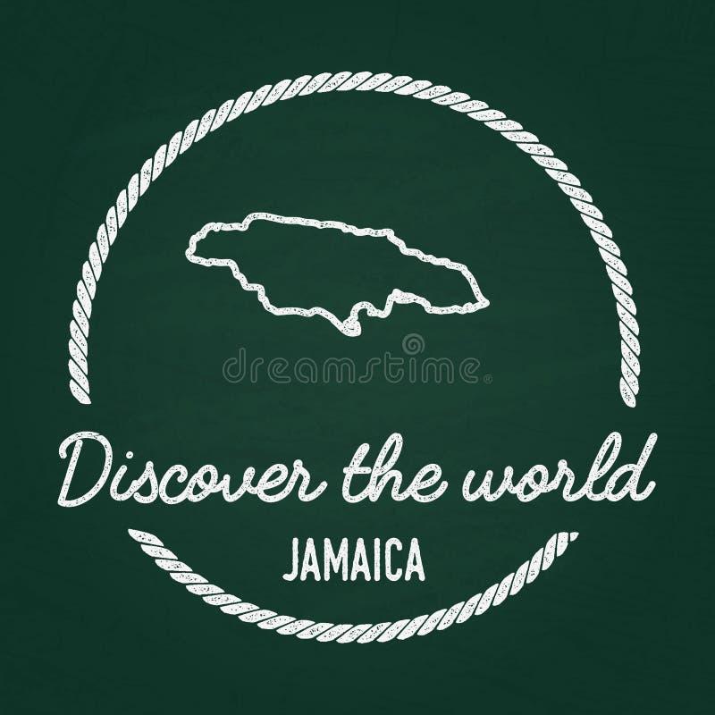 Biel tekstury modnisia kredowa insygnia z Jamajka ilustracji