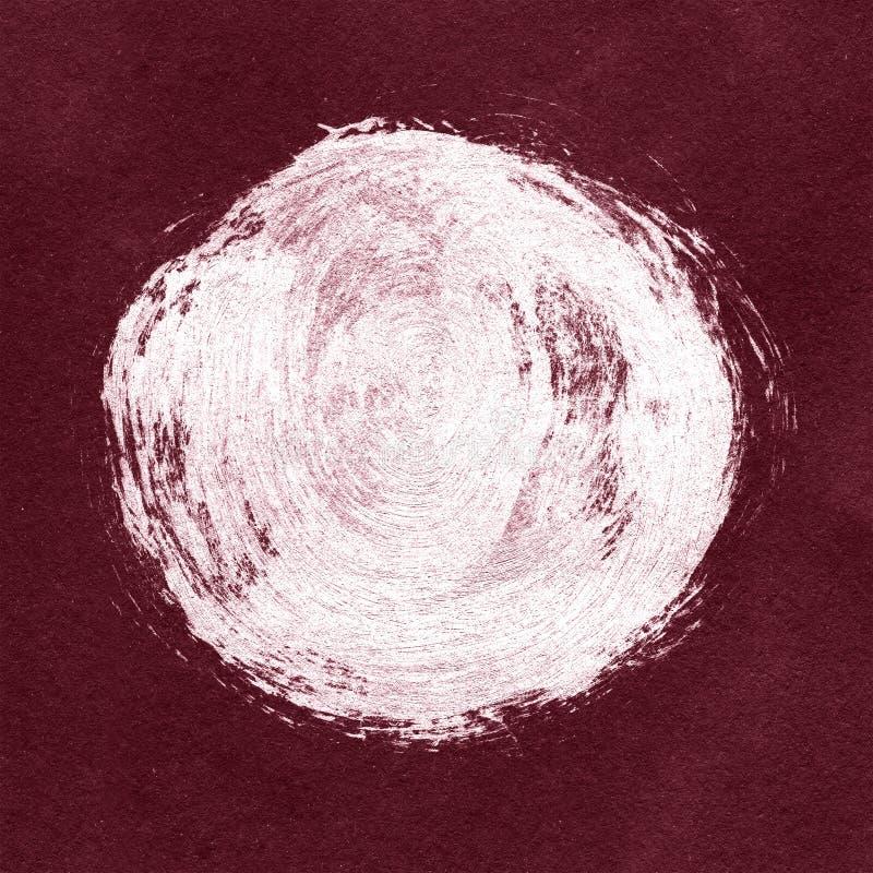 Biel textured akrylowy okrąg na Burgundy tle ilustracji