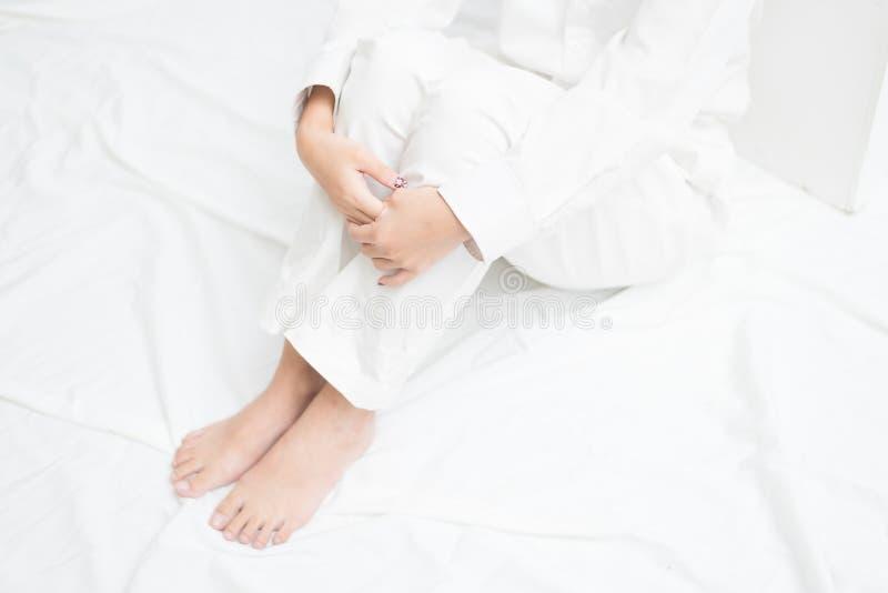 Biel ubrania pracowniani obrazy royalty free