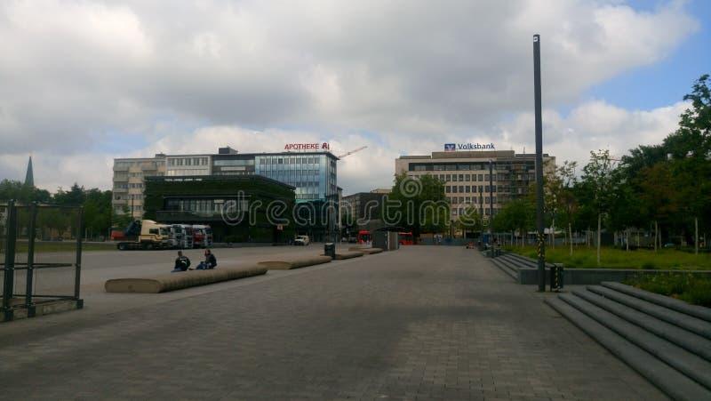 Bielefeld Kesselbrink w lecie fotografia stock