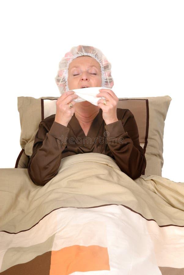 bielizna chora kobieta fotografia stock