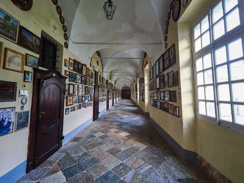 BIELLA, ITALY - AUGUST 3, 2017: Sanctuary of Oropa, Biella, Italy. Sanctuary of Oropa, Biella, Italy royalty free stock photography
