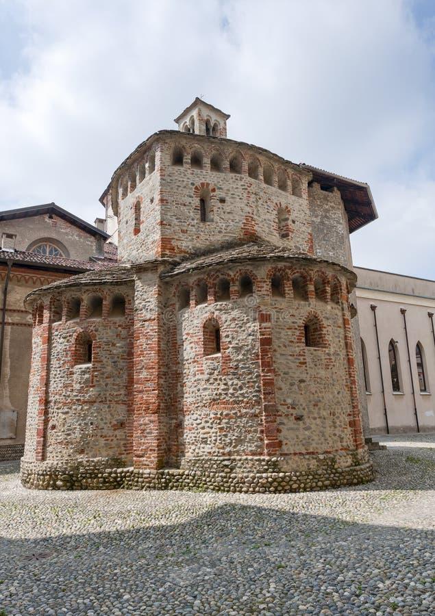 Biella (Italy) - Baptistery. Biella (Piedmont, Italy) - Baptistery in Romanesque style royalty free stock image