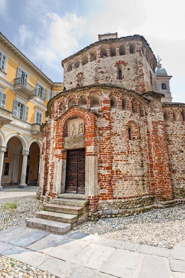 Biella (Italy) - Baptistery imagens de stock royalty free