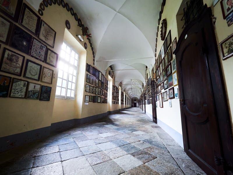 BIELLA WŁOCHY, SIERPIEŃ, - 3, 2017: Sanktuarium Oropa, Biella, Włochy obrazy royalty free