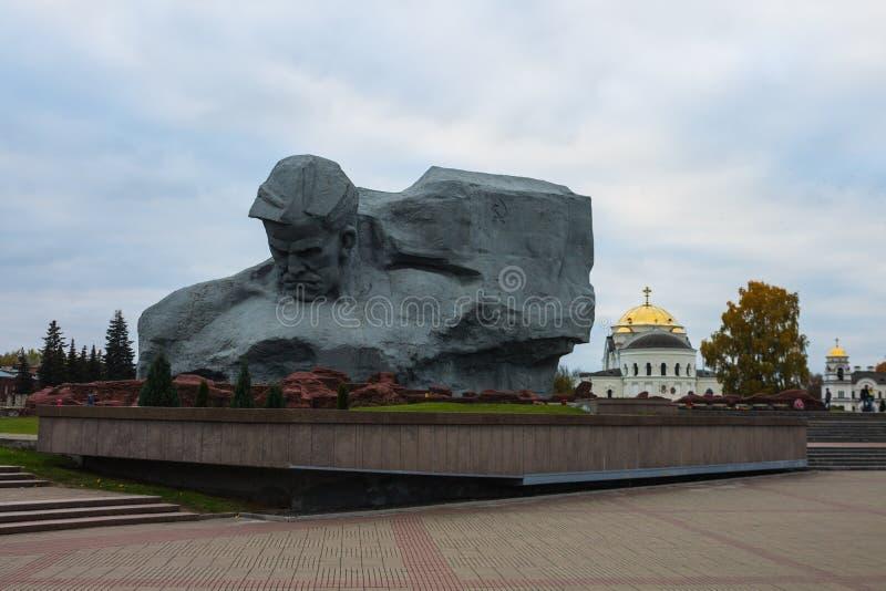 Bielorrússia, Bresta, o 24 de outubro de 2015: O monumento principal 'herói de Bresta ' foto de stock royalty free