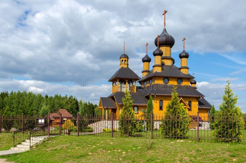 Bielorrússia, Dudutki Igreja do profeta santamente John The Baptist imagens de stock