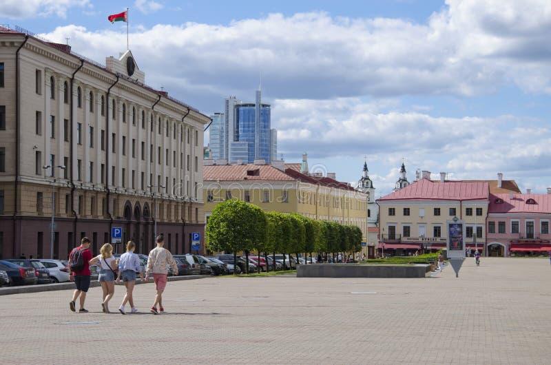 Bielorrússia, Minsk: rua de Engels imagem de stock