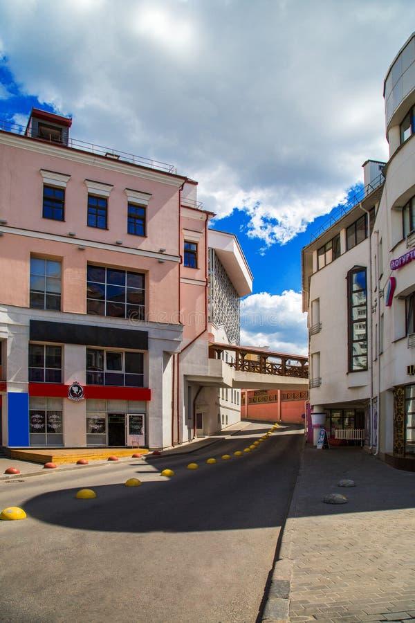 Bielorrússia, Minsk, rua Nemiga fotografia de stock royalty free