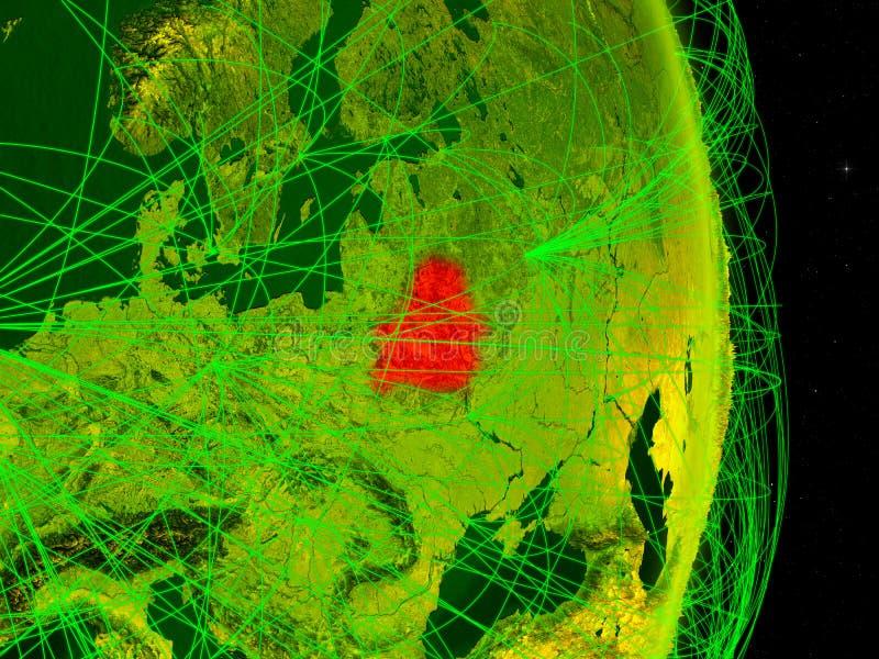 Bielorrússia na terra digital ilustração royalty free