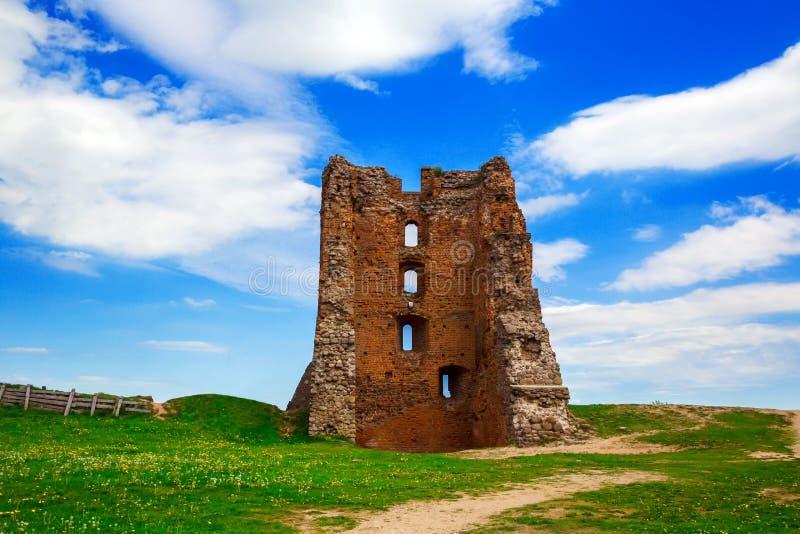 Bielorrusia, el castillo en Novogrudok foto de archivo