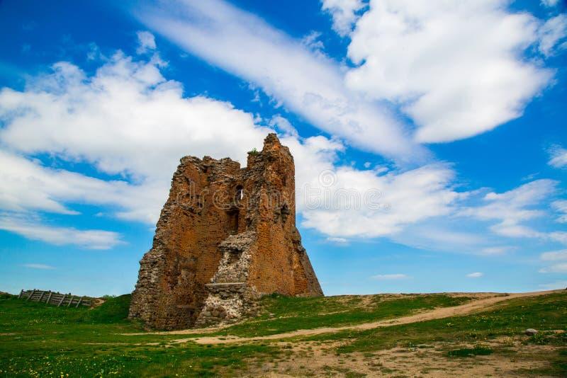 Bielorrusia, el castillo en Novogrudok imagen de archivo