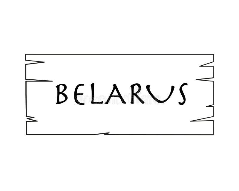 Bielorrusia, Nombre De País Escrito En El Fondo Blanco, Marco De ...
