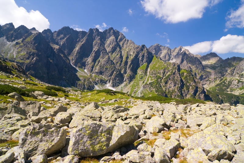 Bielovodska谷在高Tatras,斯洛伐克 库存照片