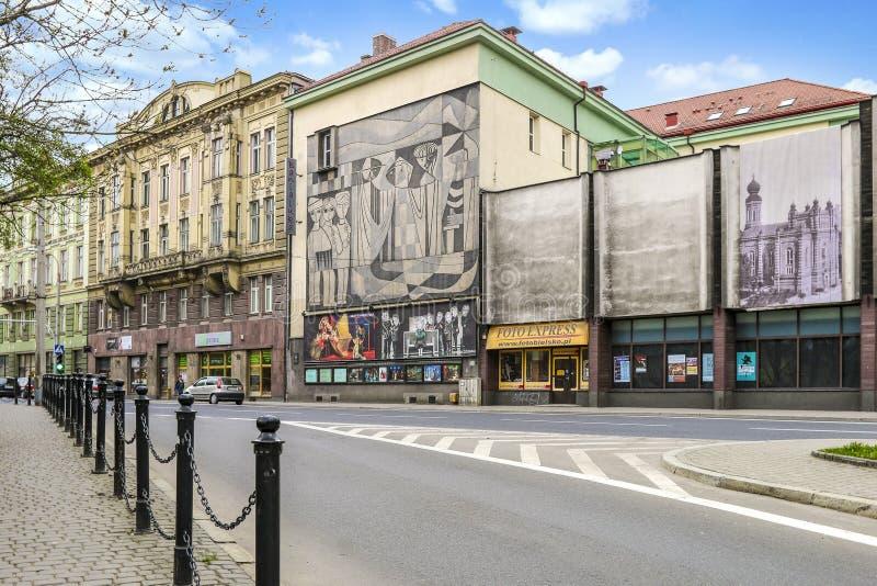BIELSKO BIALA, POLAND - APRIL 02,2016: City center. City center of Bielsko Biala, Poland royalty free stock photography