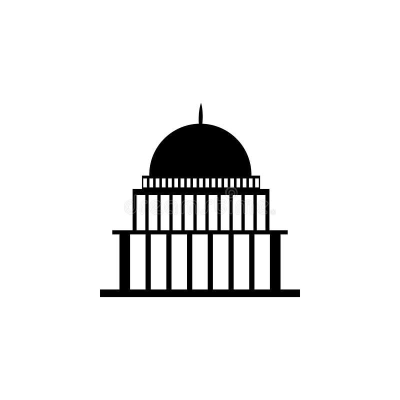 Bielu dom, kongres capitoly buduje ikonę ilustracja wektor