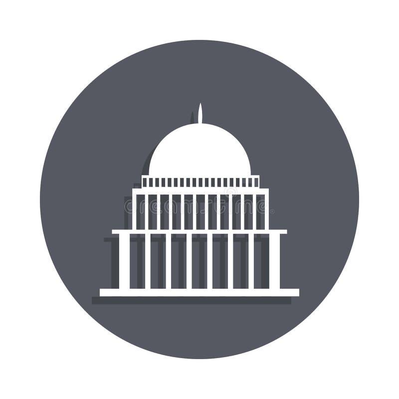 bielu dom, kongres capitoly buduje ikonę w odznaka stylu Jeden budynek inkasowa ikona może używać dla UI, UX ilustracja wektor