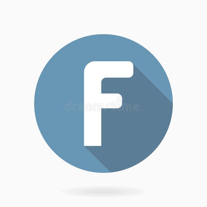 Bielu F listowa Wektorowa ikona Z Płaskim projektem royalty ilustracja
