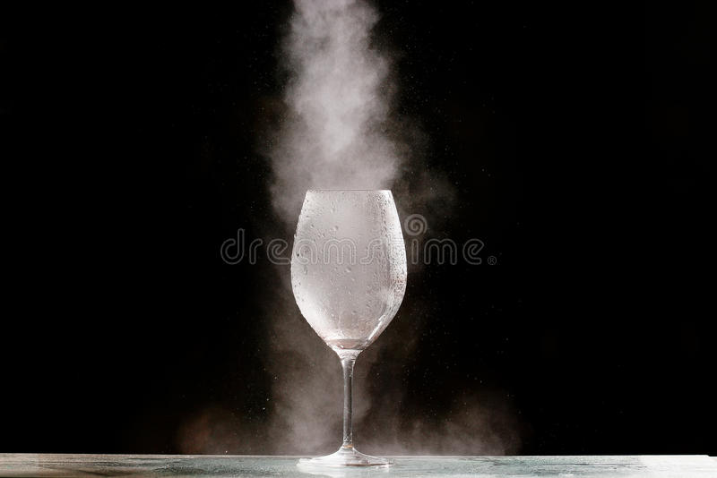 Bielu gaz w szkle zdjęcia stock