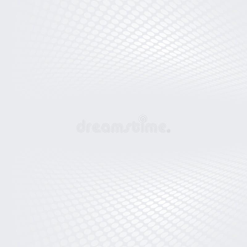 Bielu i popielatego halftone kropkowany perspektywiczny tło