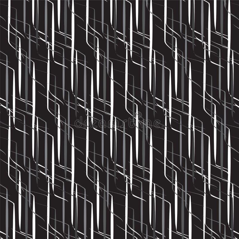 Bielu i szarość cienia kontaminaci linii wzór na czarnym tle royalty ilustracja