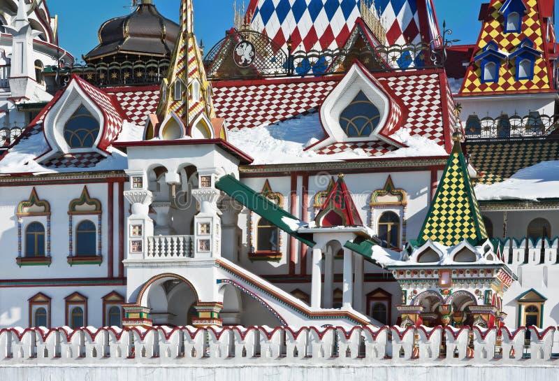 Bielu kamienia dom Izmailovo Kremlin w Moskwa zdjęcie stock