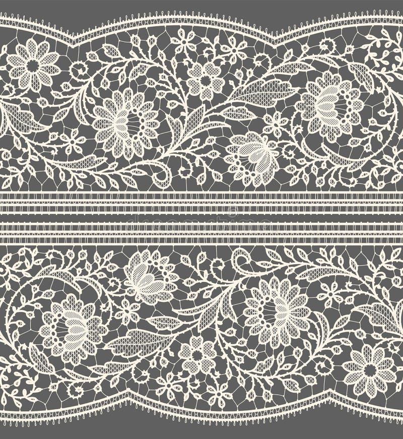 Bielu koronkowy bezszwowy wzór ilustracja wektor