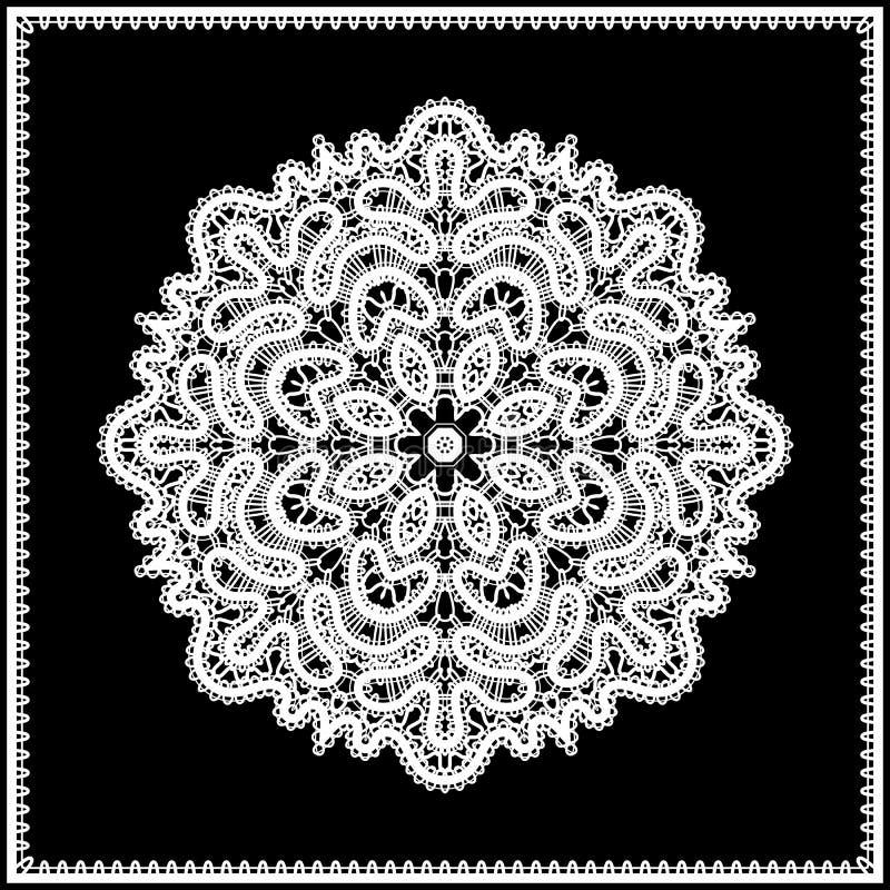 Bielu koronkowy doily royalty ilustracja