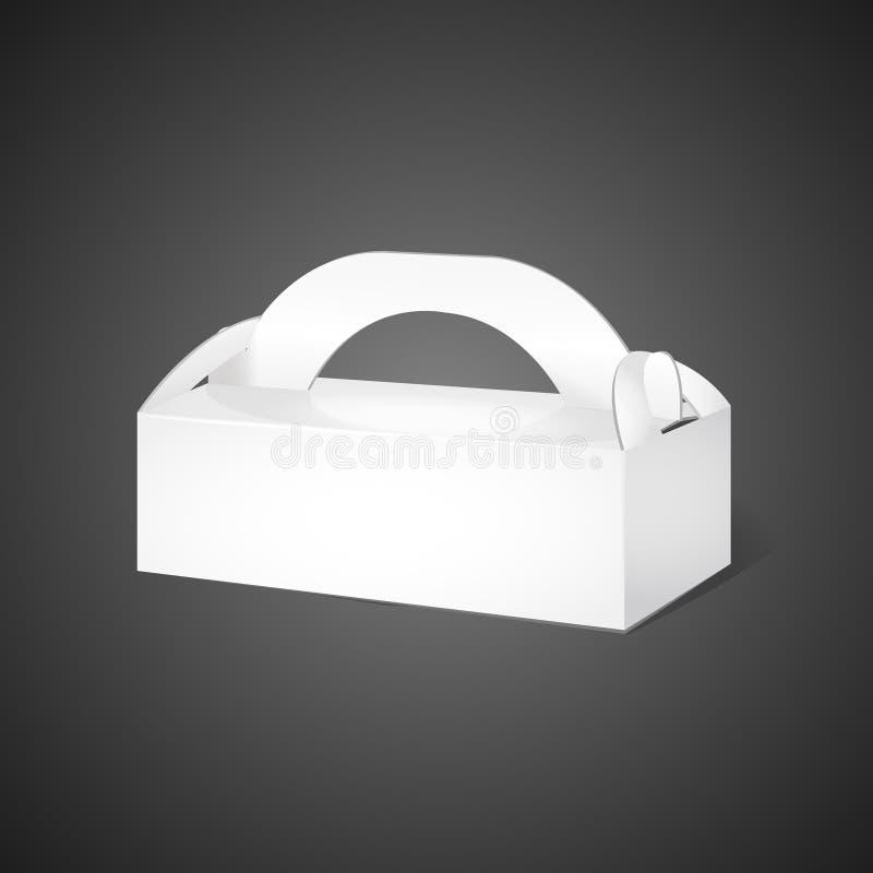 Bielu krótki karton niesie pudełkowatego pakunek ilustracja wektor